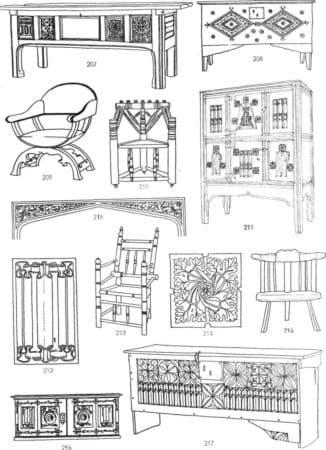 готическая мебель, мебель готика, готический интерьер