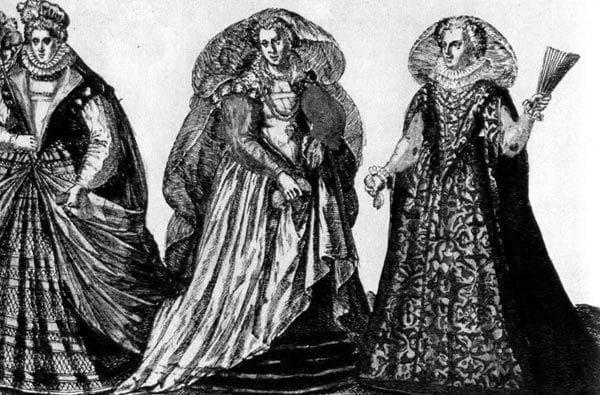 Женские наряды времен маньеризма