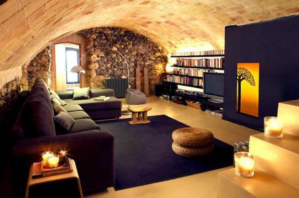 современная гостиная в африканском стиле