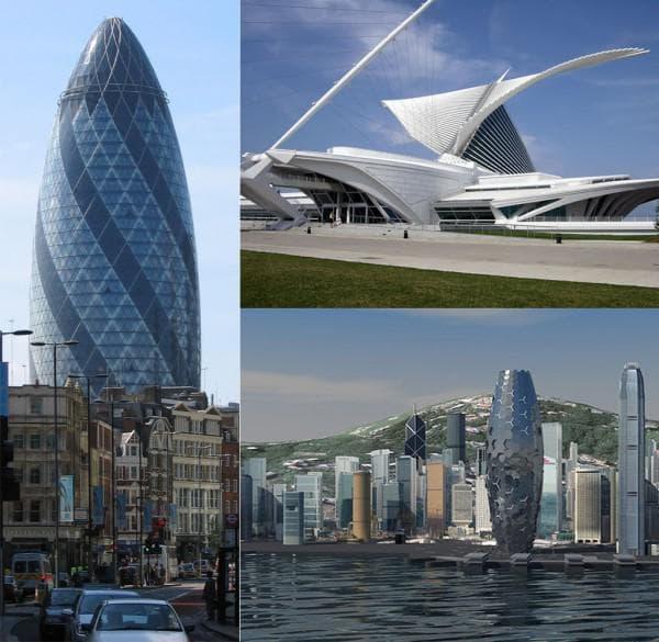 Московские постройки в стиле био-тек