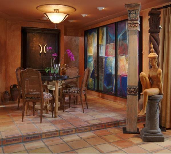 столовая в египетском стиле