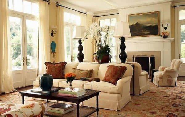 роскошная гостиная в колониальном стиле