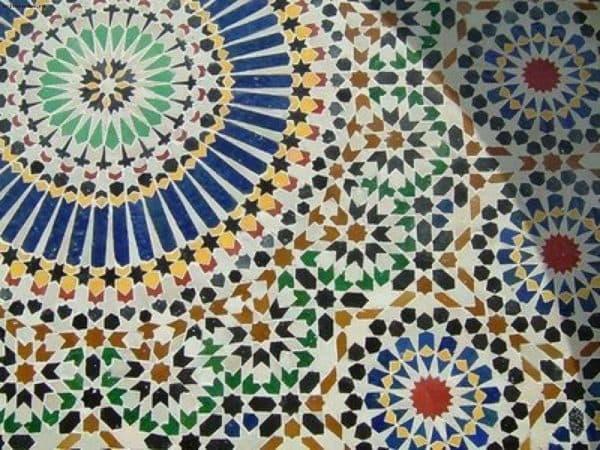 марокканский мозаичный орнамент