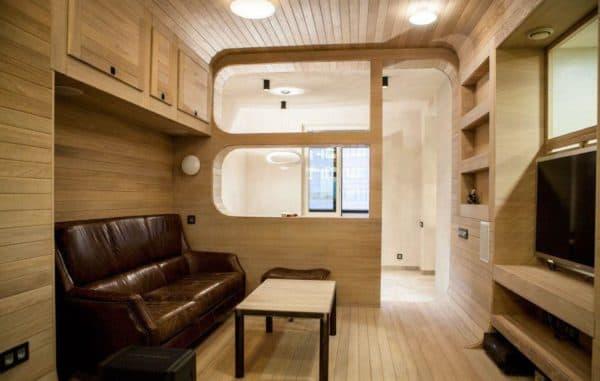 Минимализм в интерьере маленькой гостиной