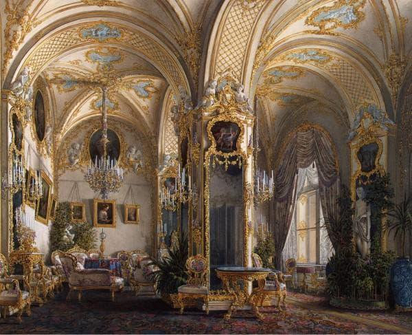 роскошный интерьер в стиле рококо