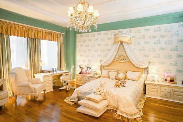 современная спальня в стиле рококо