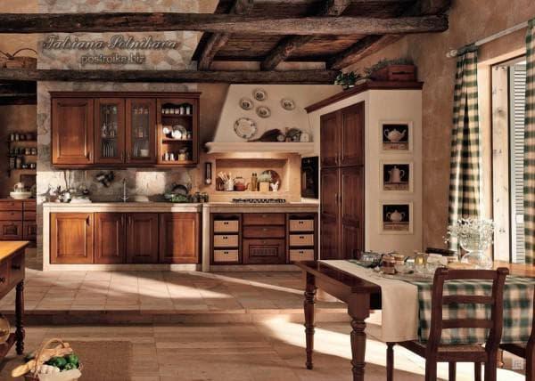 кухня, оформленная в стиле кантри