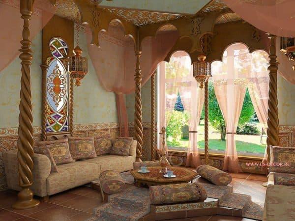 гостиная в восточном стиле
