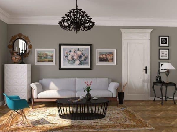 фото современной гостиной в стиле бохо