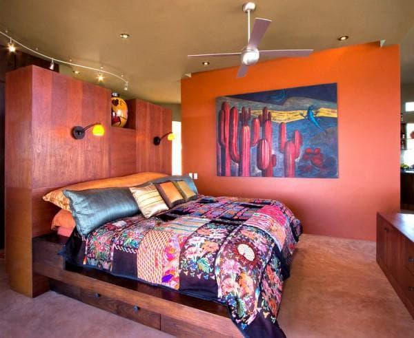 современная спальня в стиле бохо фото