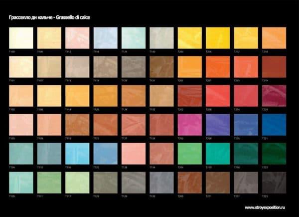 цветовая палитра декоративной штукатурки