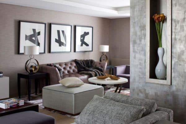 дизайн просторной квартиры в стиле контемпорари