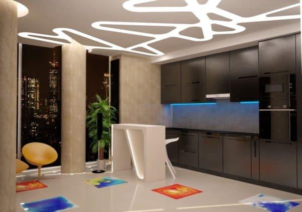 фото кухни студии в квартире