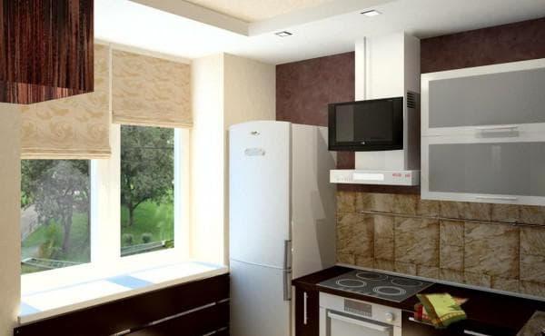 зонирование помещения в маленькой кухне 9 м