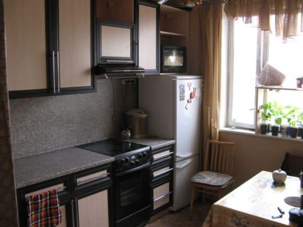 зонирование пространства для маленькой кухни