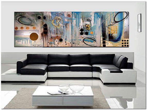 дизайн современной гостиной с модульными картинами