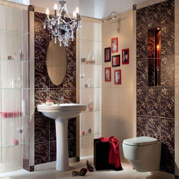 дизайн ванной комнаты с керамической плиткой Paradiz