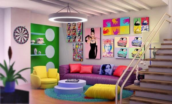 стиль поп-арт в интерьерах квартир