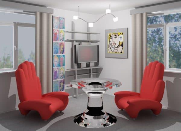 дизайнерская мебель в стиле поп-арт