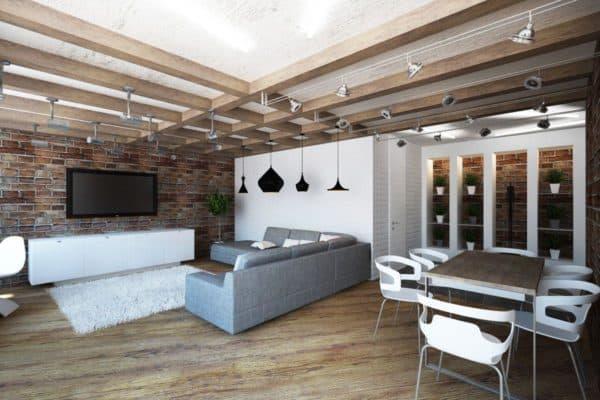 современная гостиная с элементами стиля шебби шик