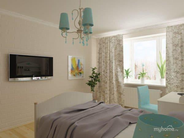 пастельные тона в спальне в скандинавском стиле