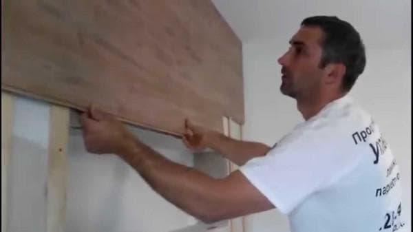 отделка стен ламинатом