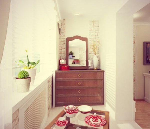комната совмещенная с балконом фото