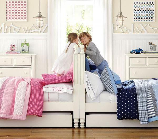 комната для мальчика и девочки интерьер