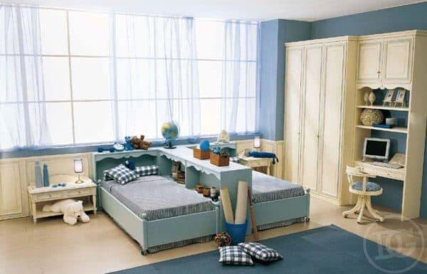 интерьер детской для мальчика и девочки