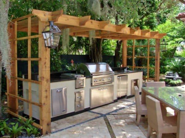 летние кухни проекты