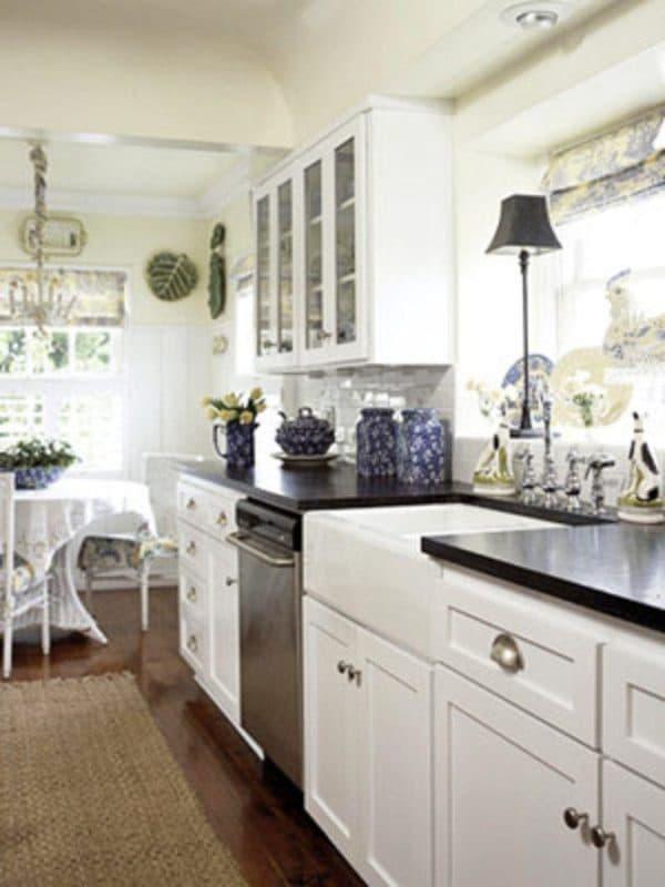 мебель кухни фото дизайн длинные узкие