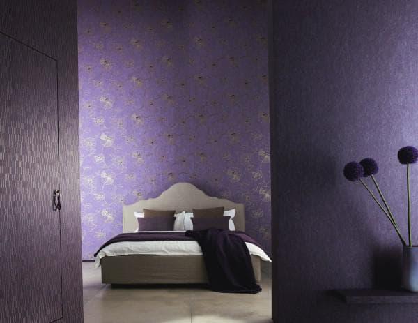 комбинированные обои для спальни каталог фото