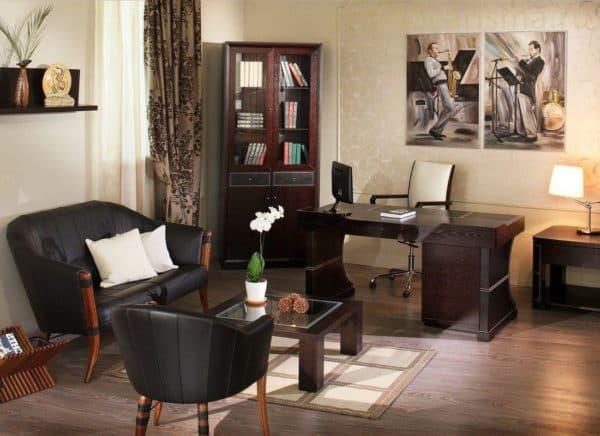 кабинет в квартире дизайн фото