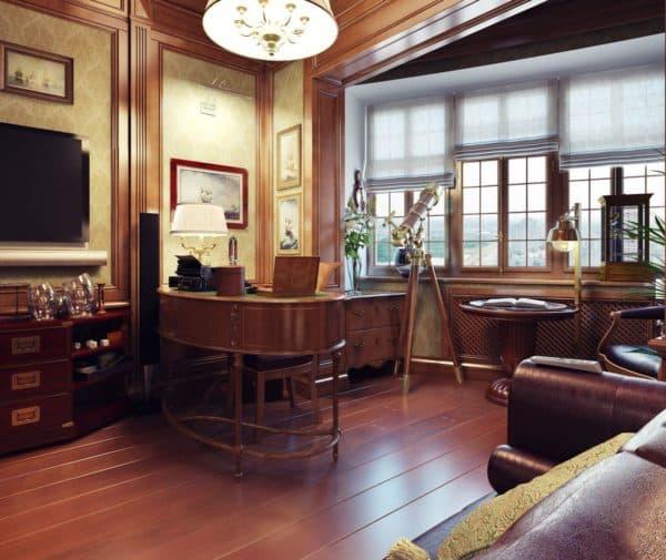 дизайн кабинета в доме фото