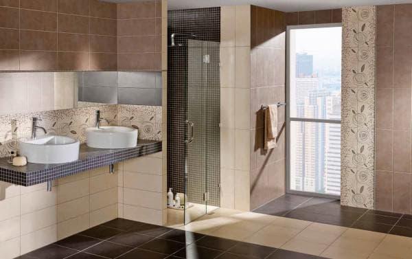 размеры напольной плитки для ванной