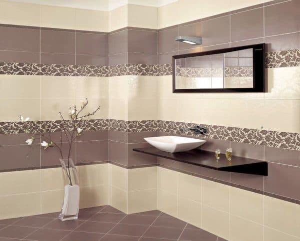 размеры настенной плитки для ванной