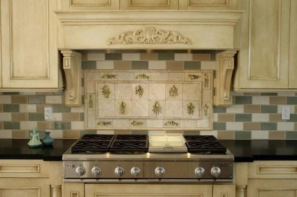 плитка для кухни на фартук 10х10