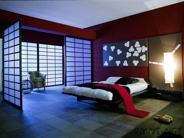японский минимализм в интерьере спальни