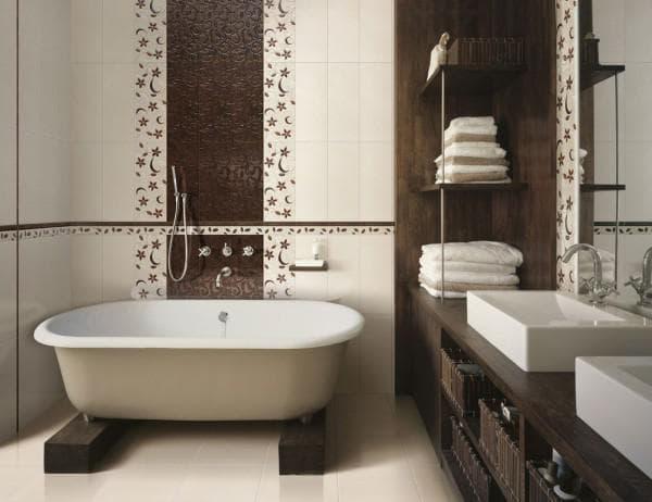 размер плитки для маленькой ванной