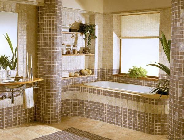 размеры кафельной плитки для ванной комнаты