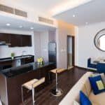 Совмещение кухни и гостиной