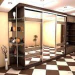 Шкаф купе в длинный коридор.
