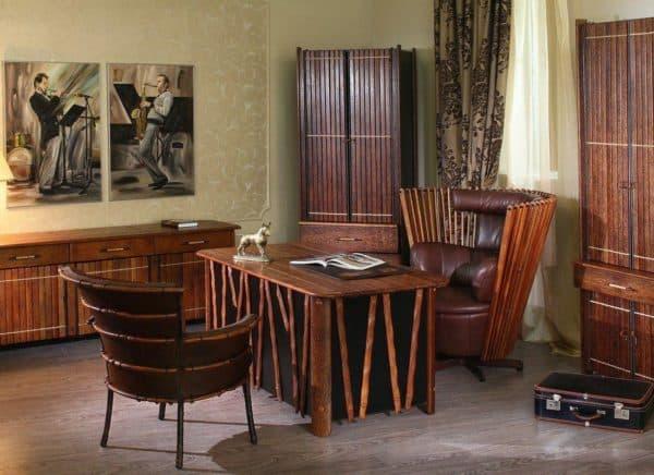дизайн кабинета в африканском стиле