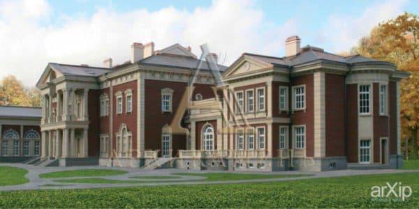 дом в классическом английском стиле