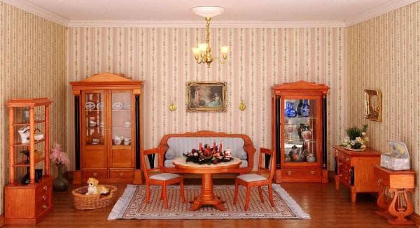 русская гостиная в стиле бидермейер