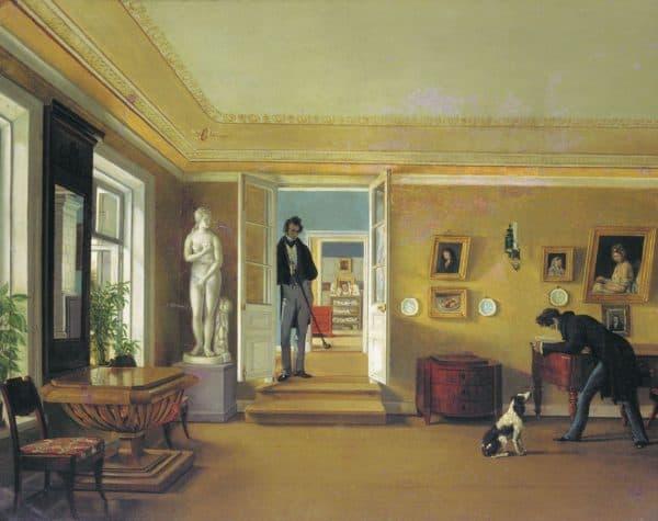русский интерьер в живописи 19го века
