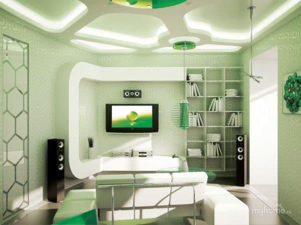 гостиная в стиле бионика