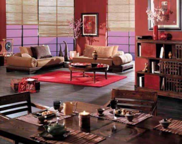 интерьер дома в китайском стиле