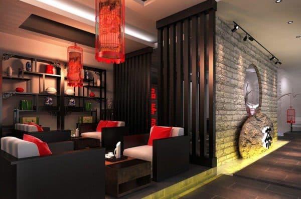 современная гостиная в китайском стиле