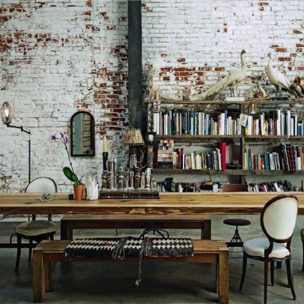 кабинет в стиле лофт